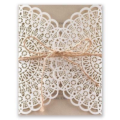 Beaming Beauty Laser Cut Wedding Invitation I Vintage Lace Style Wedding  Invitations At Invitations By Dawn