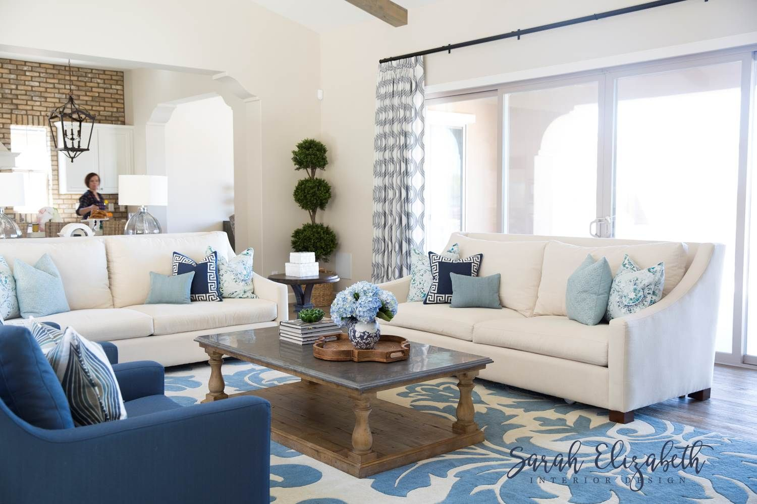Rustic Family Room Classic Rustic Family Room In Shades Of Blue By Sarah Elizabeth