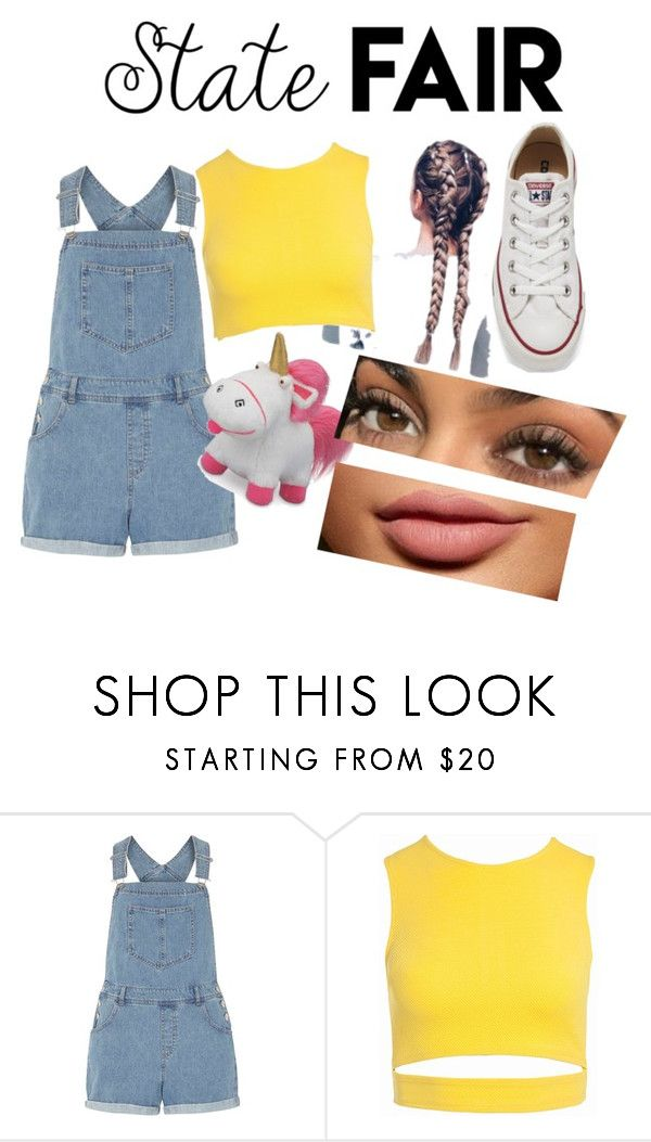 """fluffy"" by bianca-needs-sleep ❤ liked on Polyvore featuring Dorothy Perkins, Sans Souci, Converse, statefair and summerdate"