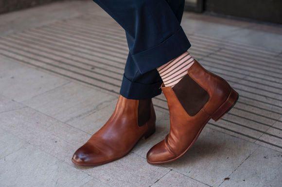 Pin by Elizabeth Adzima on Orange tie tux | Chelsea boots ...
