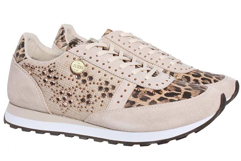 guess lage sneakers beige glory fl2gly fab12 109311