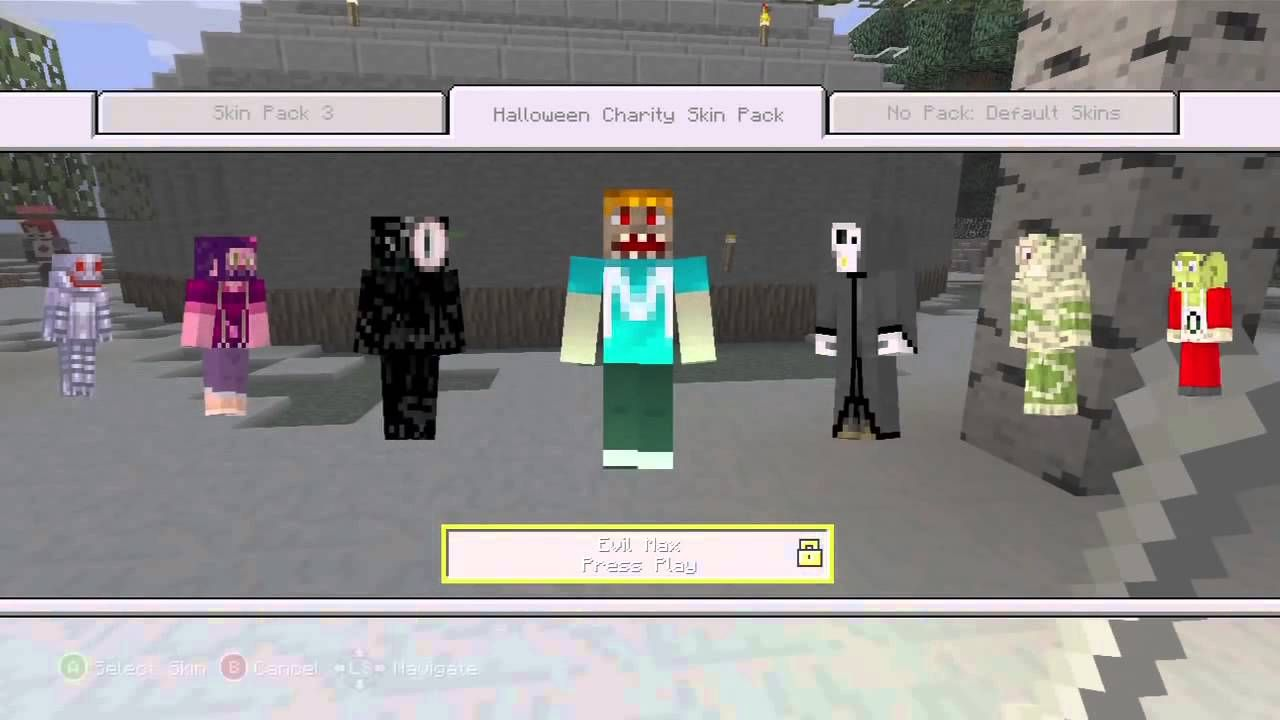 Stampylongnose: Minecraft Xbox 360 Edition - Halloween Skin Pack | stampylonghead | Mr Stampy Cat