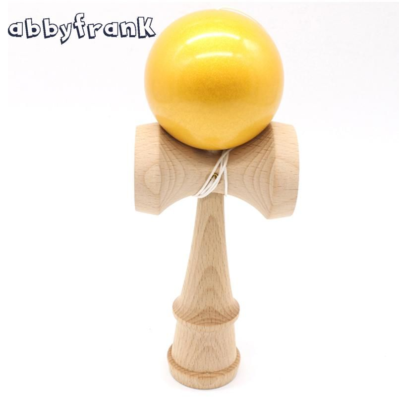 Abbyfrank Pearl Wooden Kendama Sword Toy Ball Professional Ball Toys Japanese Traditional Game Skillful Juggling Balls For Adult