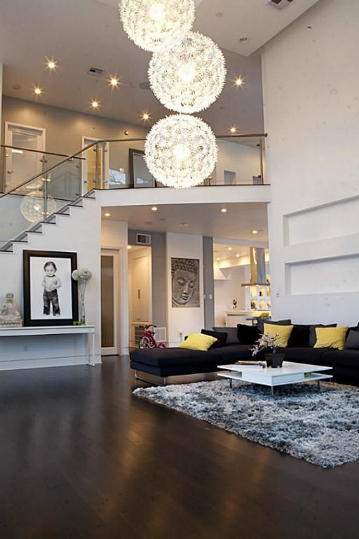 the open living room area is very