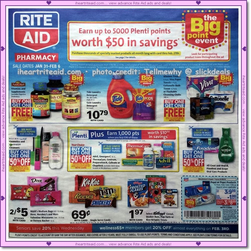 rite aid ad for 01/31 - 02/06!  view it here:  http://www.iheartriteaid.com/2016/01/0131-0206.html  #riteaid #coupons #couponing #couponcommunity #deals