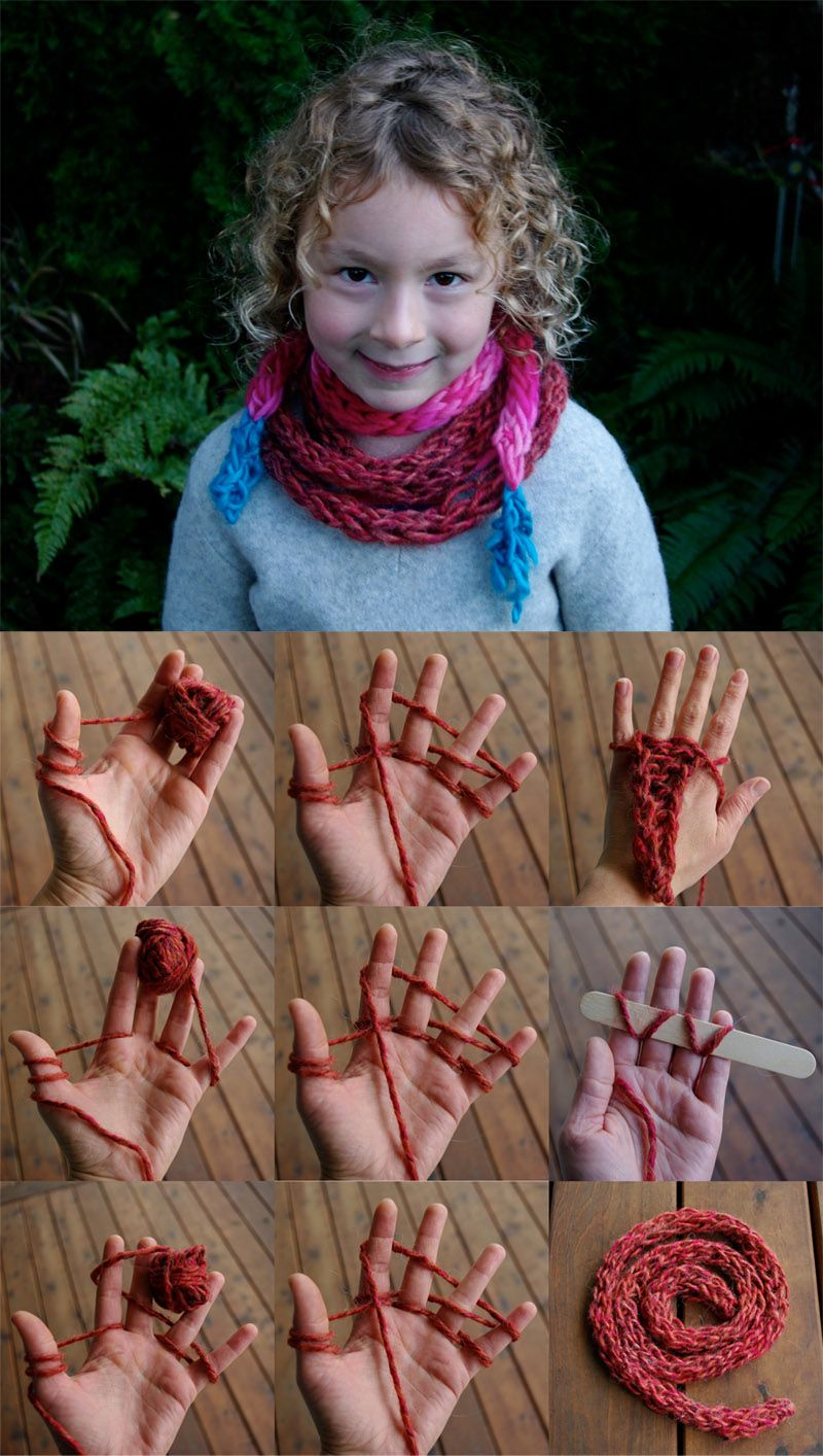 Fingerstricken für Kinder   stricken   Pinterest   Fingerstricken ...