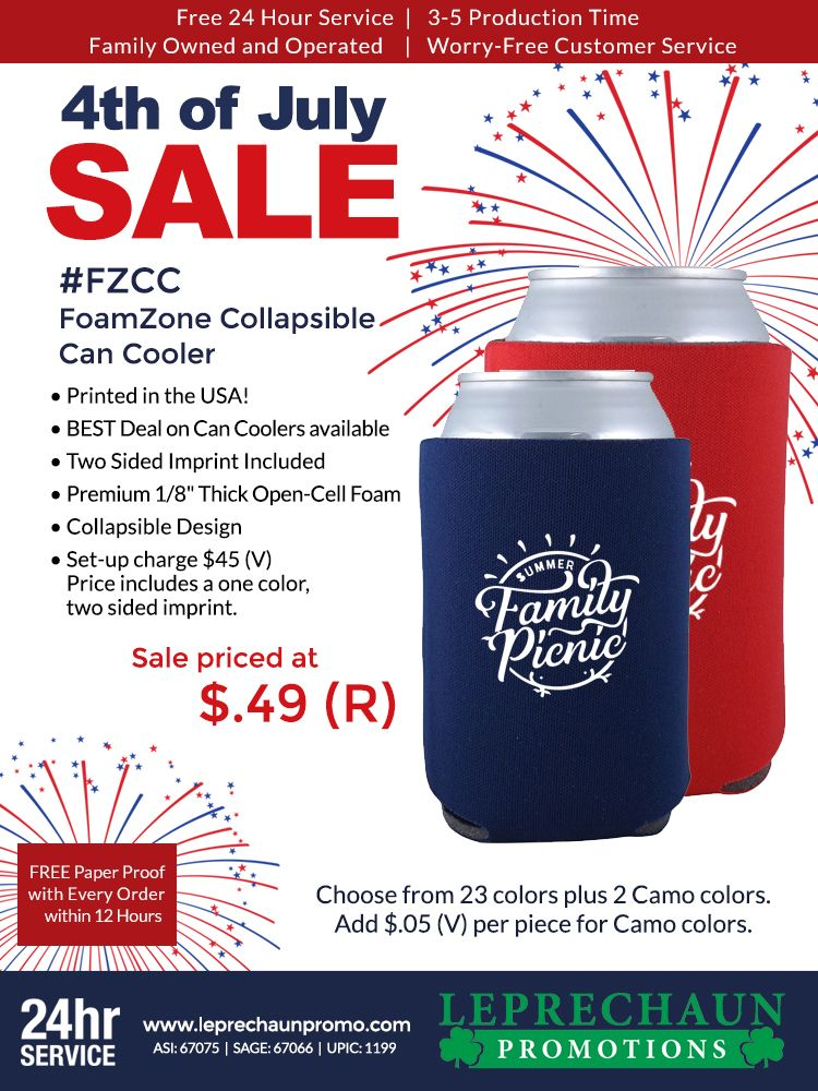 Promooffers Can Coolers From Leprechaun Promotions Canning Cooler 24 Hour Service