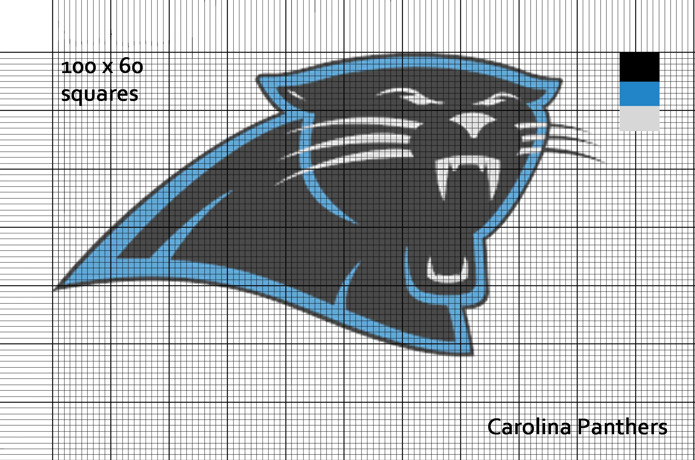 Carolina Panthers Nfl Logo Cross Stitch Pattern Cross