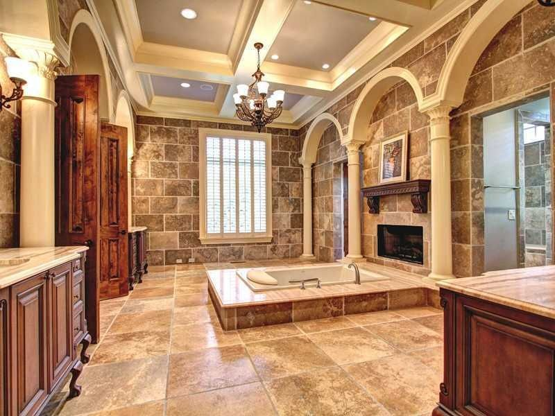 Mediterranean Master Bathroom   Found On Zillow Digs. Love The Sunken  Bathtub W/fireplace