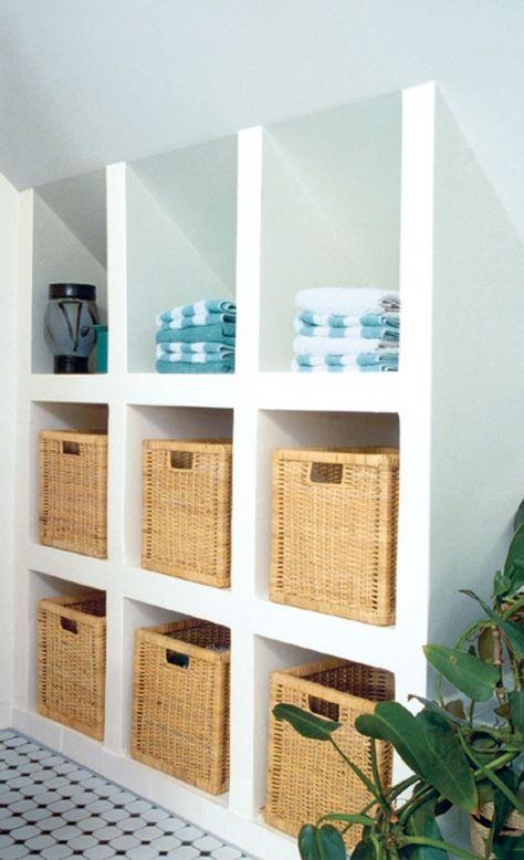 Tolle Idee Fur Dachschragen Einfach Ein Regal Bauen Was Passt Ikea Shelves Home