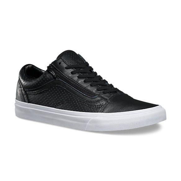 Perf Leather Old Skool Zip Shop Womens Shoes At Vans Calzas