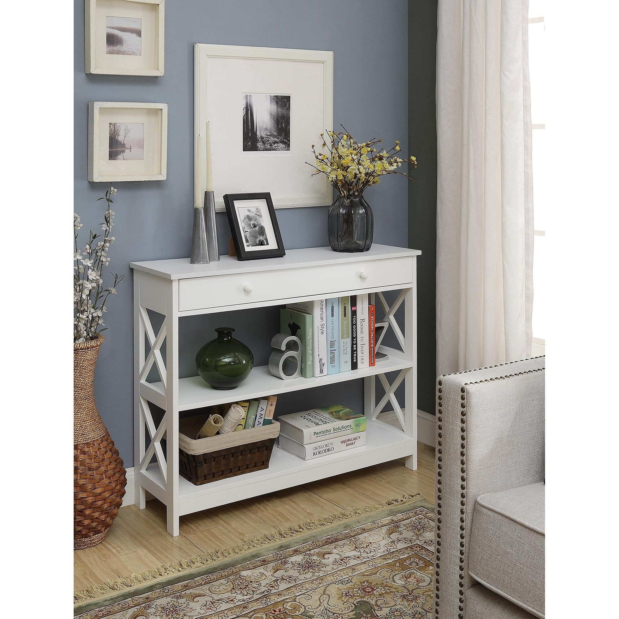 Convenience concepts oxford drawer console table entryway in
