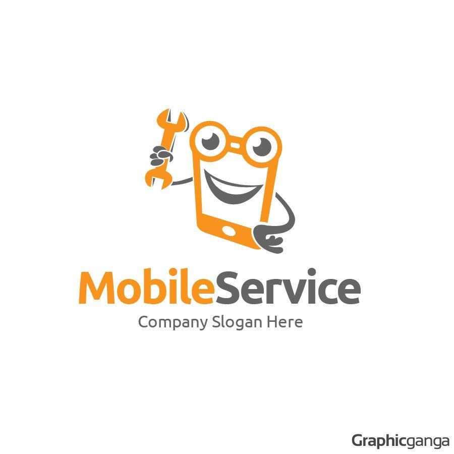 Mobile Service - Logo Template | Logos | Pinterest