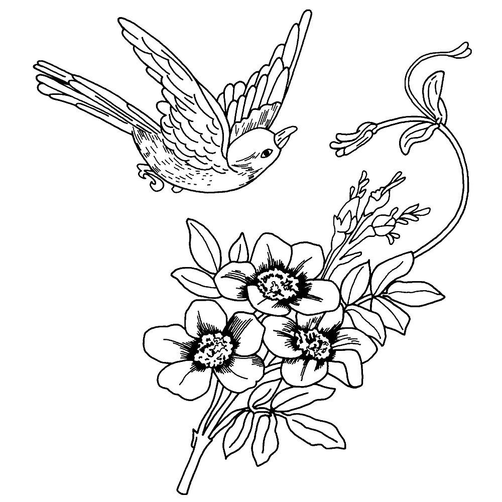 Free SVG File, Digi Stamp or Craft Projects Flower