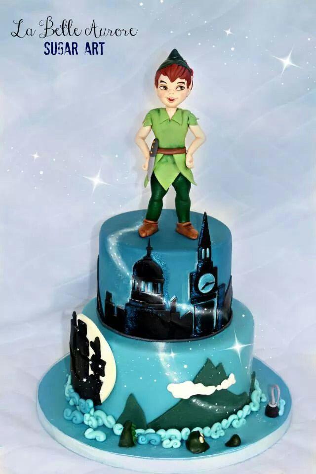 Peter Pan Cake Peter Pan Cakes Cartoon Cake Birthday Cake Kids