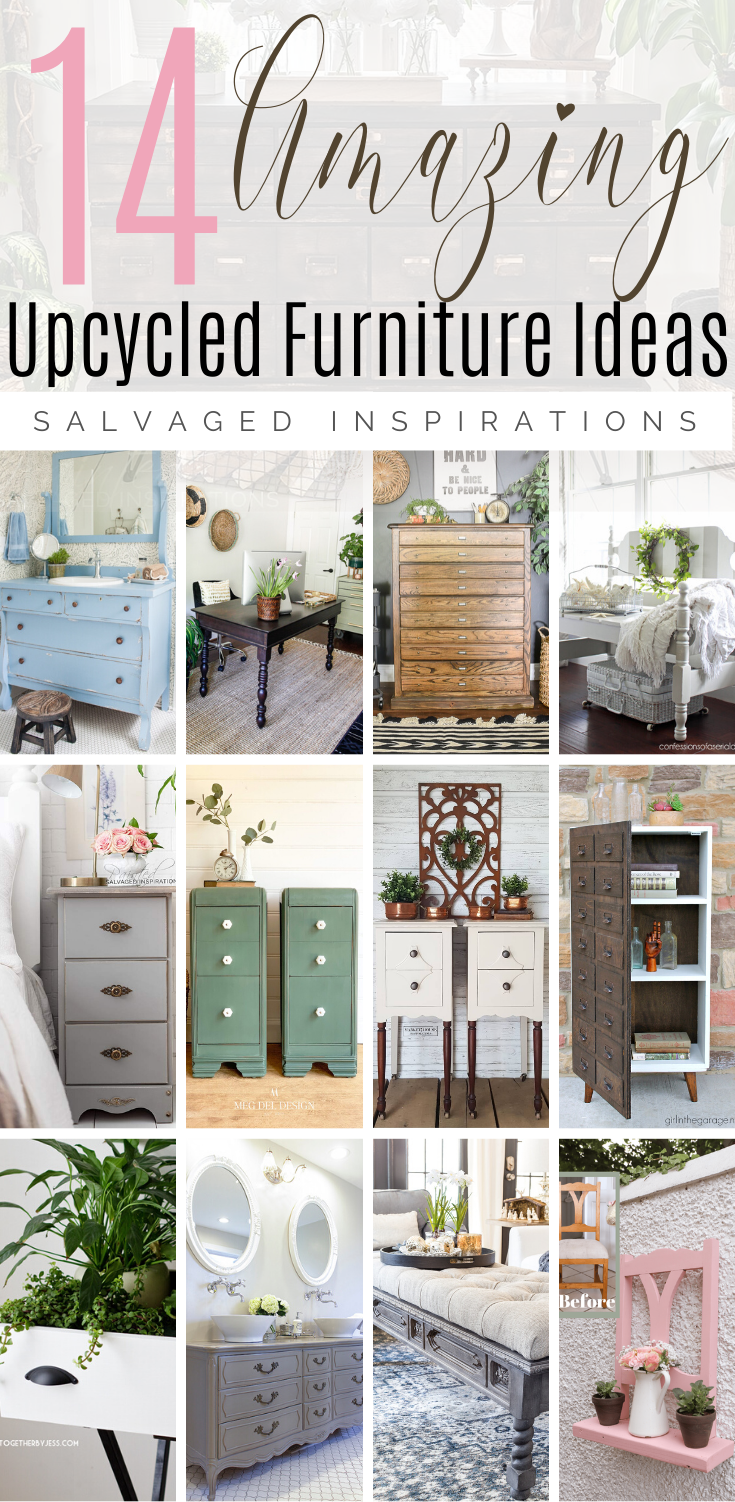14 Gorgeous Upcycled Furniture Ideas | Lovely and Genius Ideas to Turn your Unused Furniture Into Something You Need | Salvaged Inspirations  #siblog #salvagedinspirations #paintedfurniture #furniturepainting #DIYfurniture #furniturepaintingtutorials #howto #furnitureartist #furnitureflip #salvagedfurniture #furnituremakeover #beforeandafterfurnuture #paintedfurnituredieas #dixiebellepaint #redesignwithprima