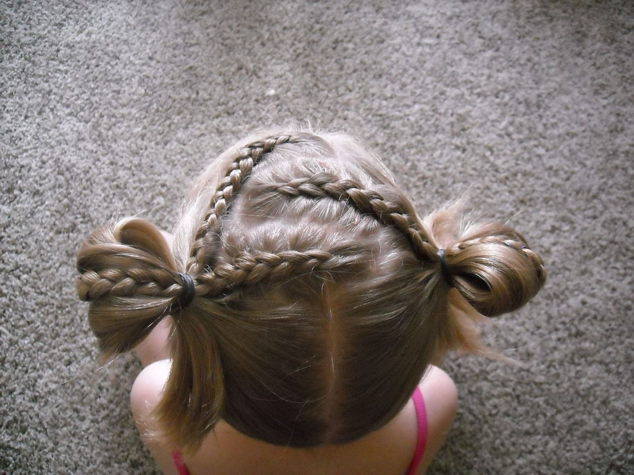 Hair braids little girls pigtails fun childhood memories