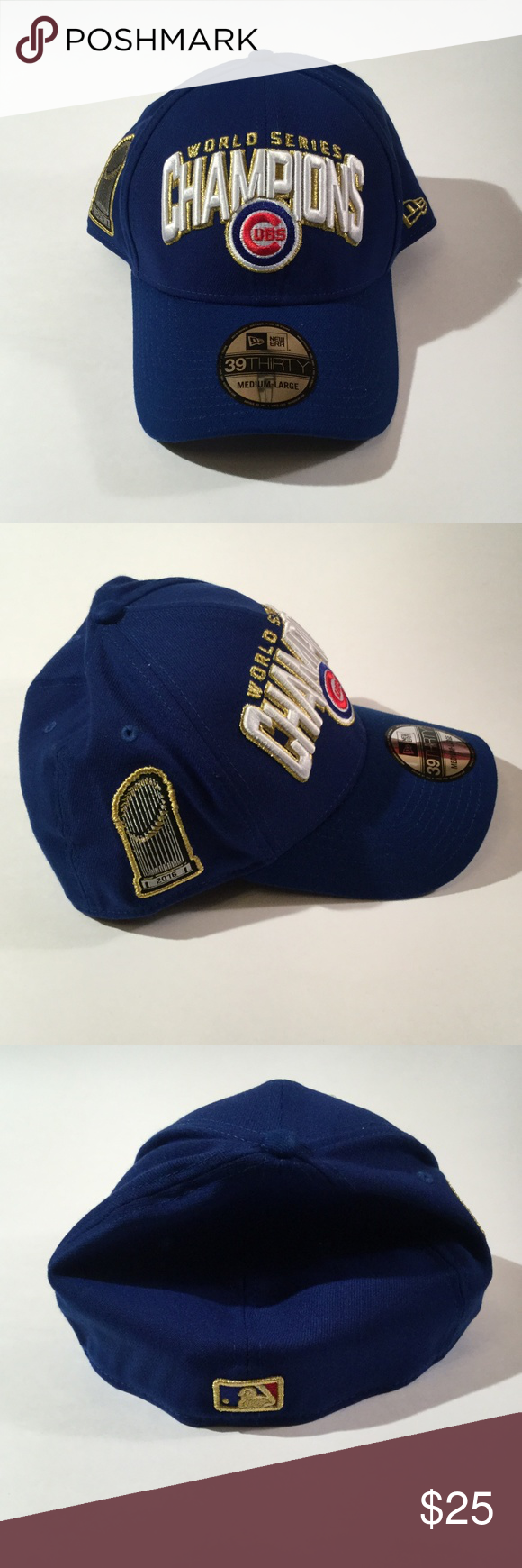 46f77341f6e New Era Chicago Cubs World Series Champions Cap ML New Era 39 Thirty  Chicago Cubs 2016