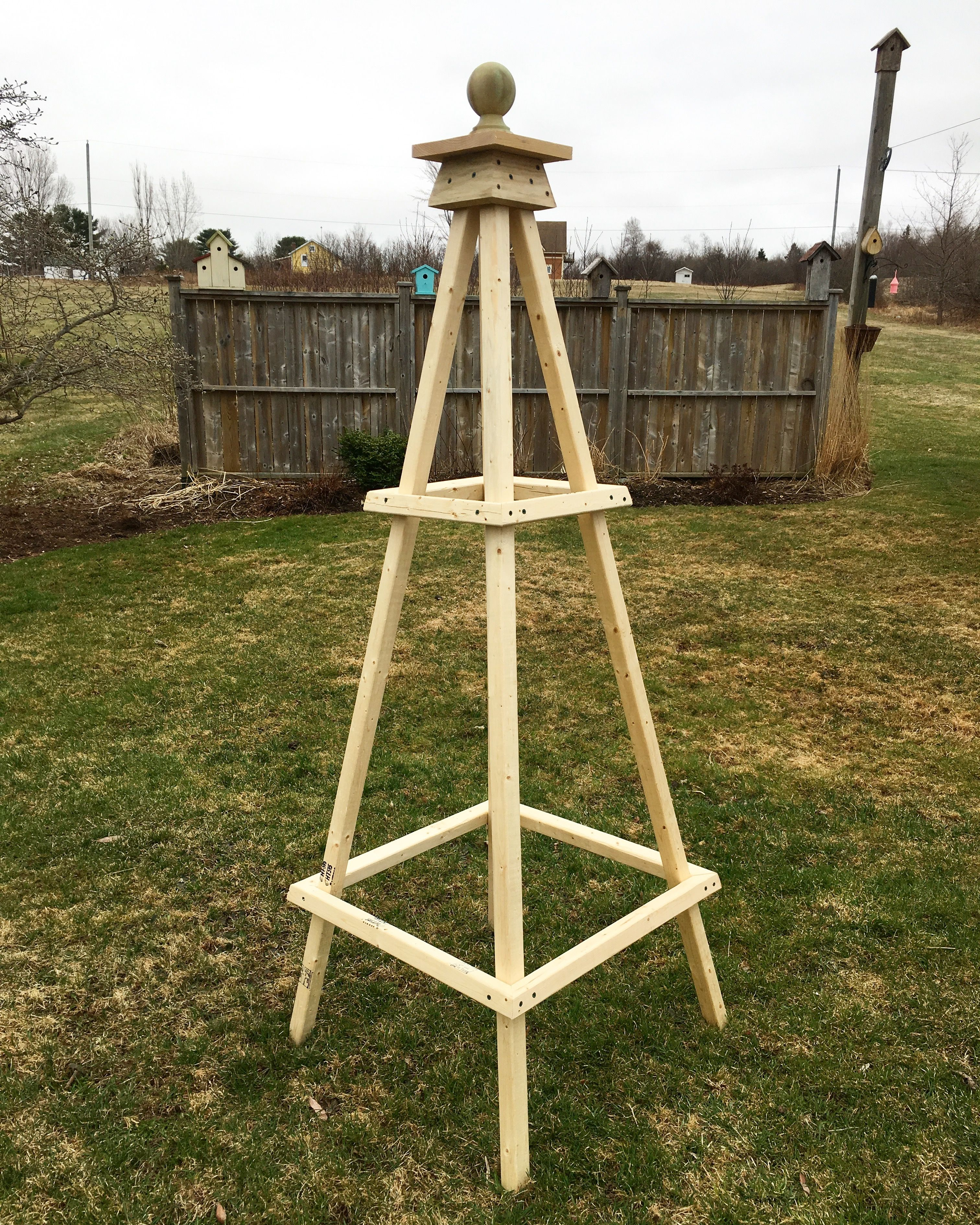 Obelisk . Made from two by two and some scraps of wood | Garden ...