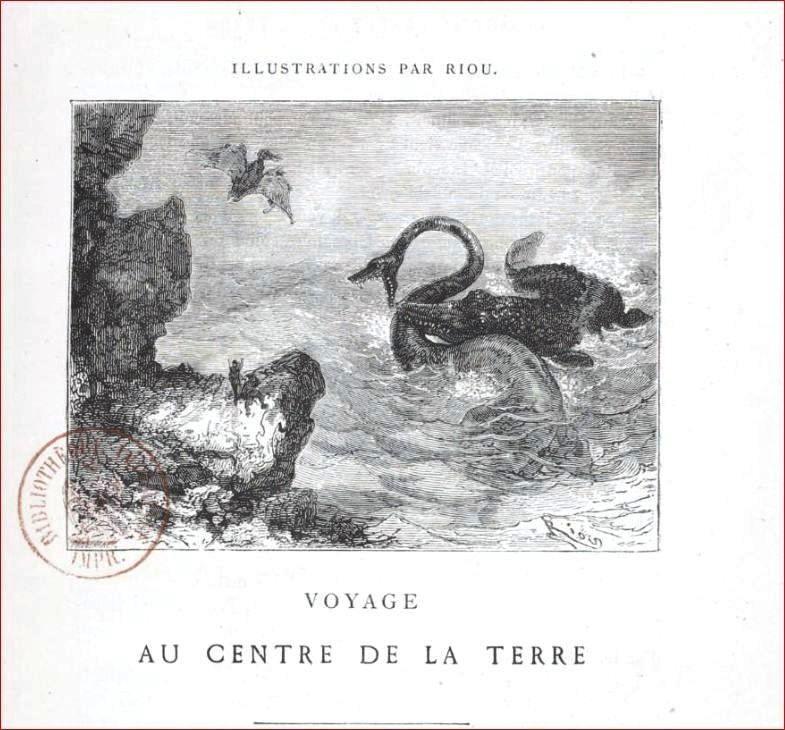 printed matter title page voyage au centre de la terre