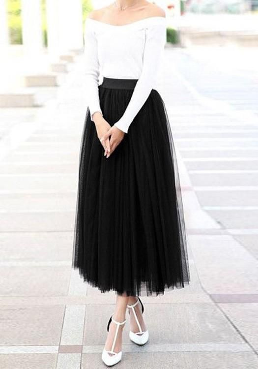 Black Puffy Tulle Plus Size Homecoming Party Cute Sweet Prom Dress