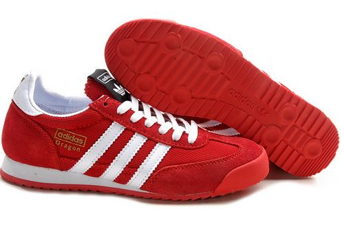adidas dragon trainers red