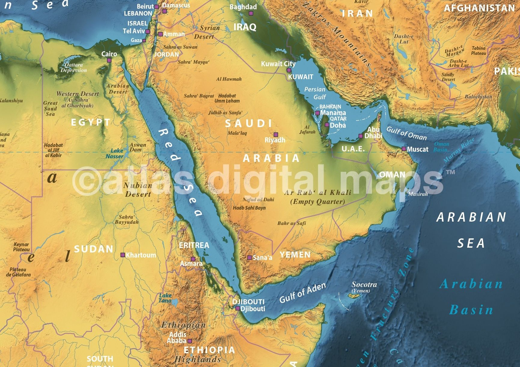 Land and sea relief map of saudi arabia and east africa with navy land and sea relief map of saudi arabia and east africa with navy sea detail gumiabroncs Gallery