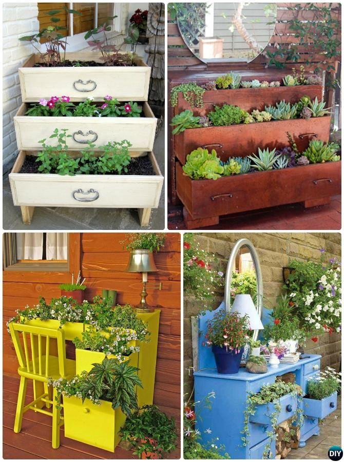 DIY Repurposed Dresser Planter Instructions 20 DIY Upcycled