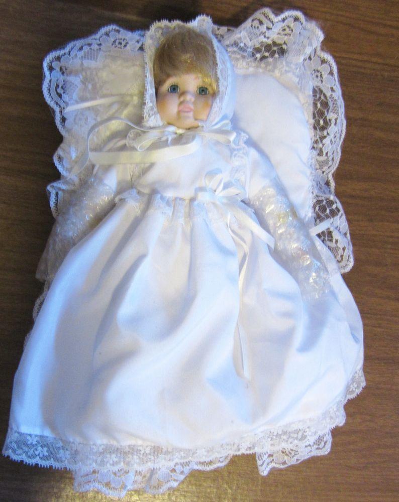Doll 11 3 4 Bisque Porcelain Head Feet Hands Cloth Body