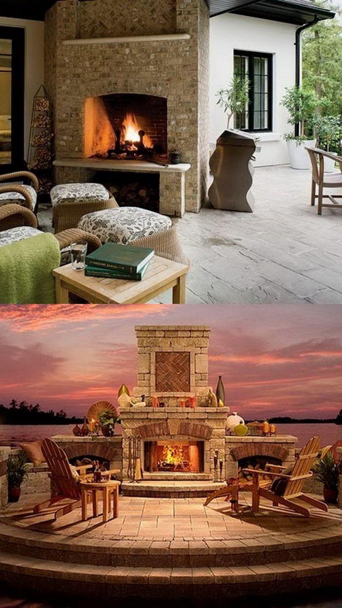 Amazing outdoor fireplace designs part in outdoor