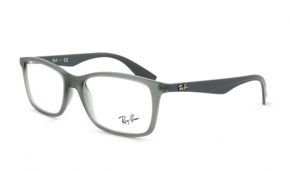 ray ban brille in grau