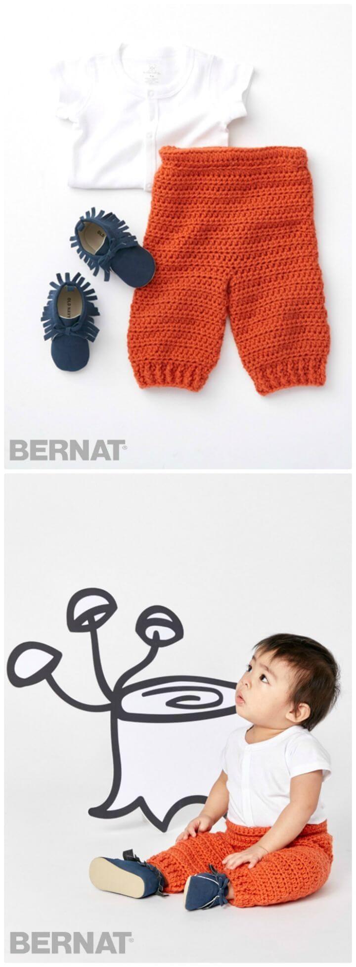 Crochet Baby Pants - 9 Free Patterns | Cosas para bebe, Ganchillo y ...