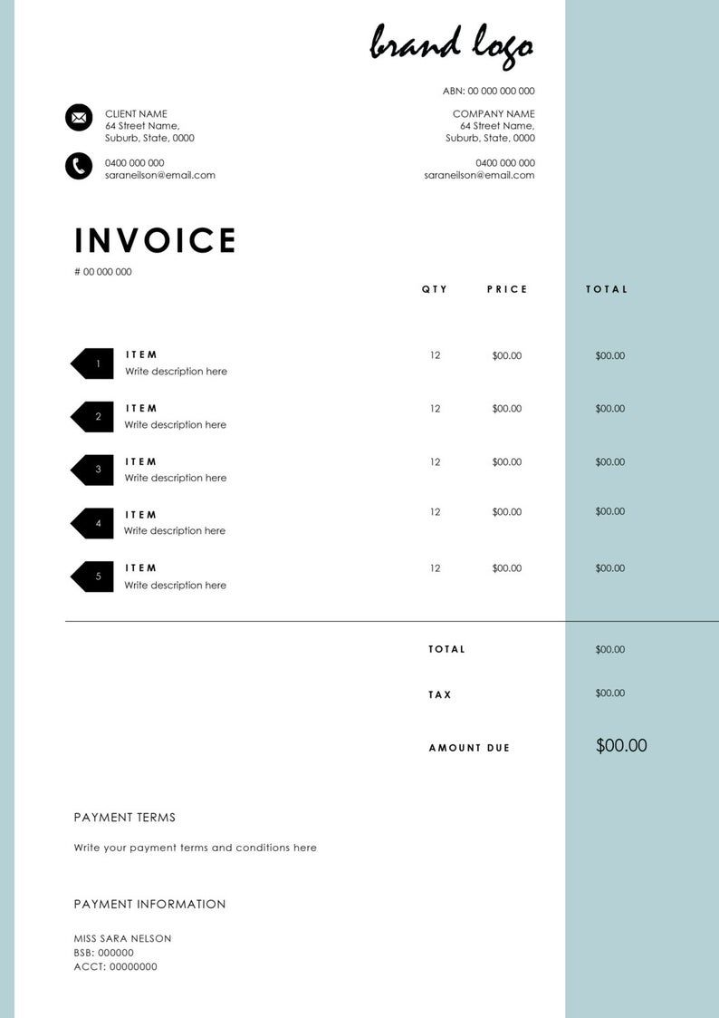 The Nelson Invoice Template Receipt Ms Word Receipt Template Invoice Download Invoice Template Invoice Design Receipt Template