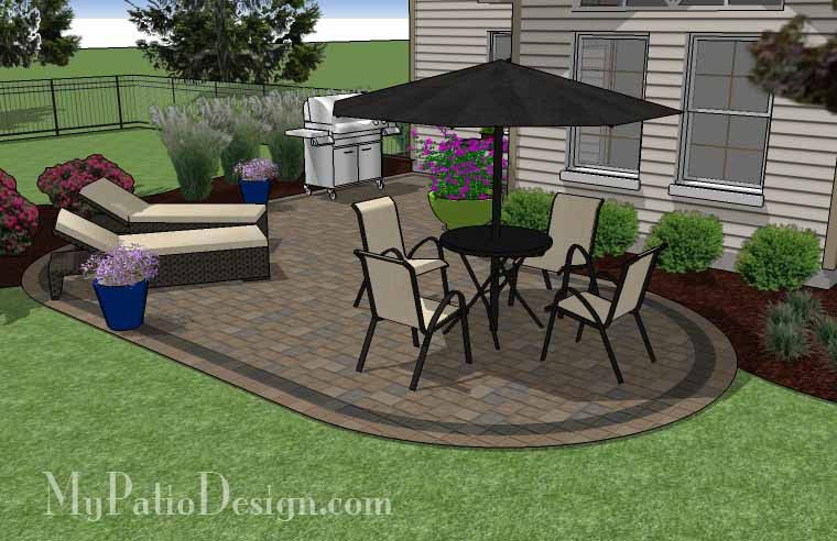 L Shaped Patio Design 440 Sq Ft
