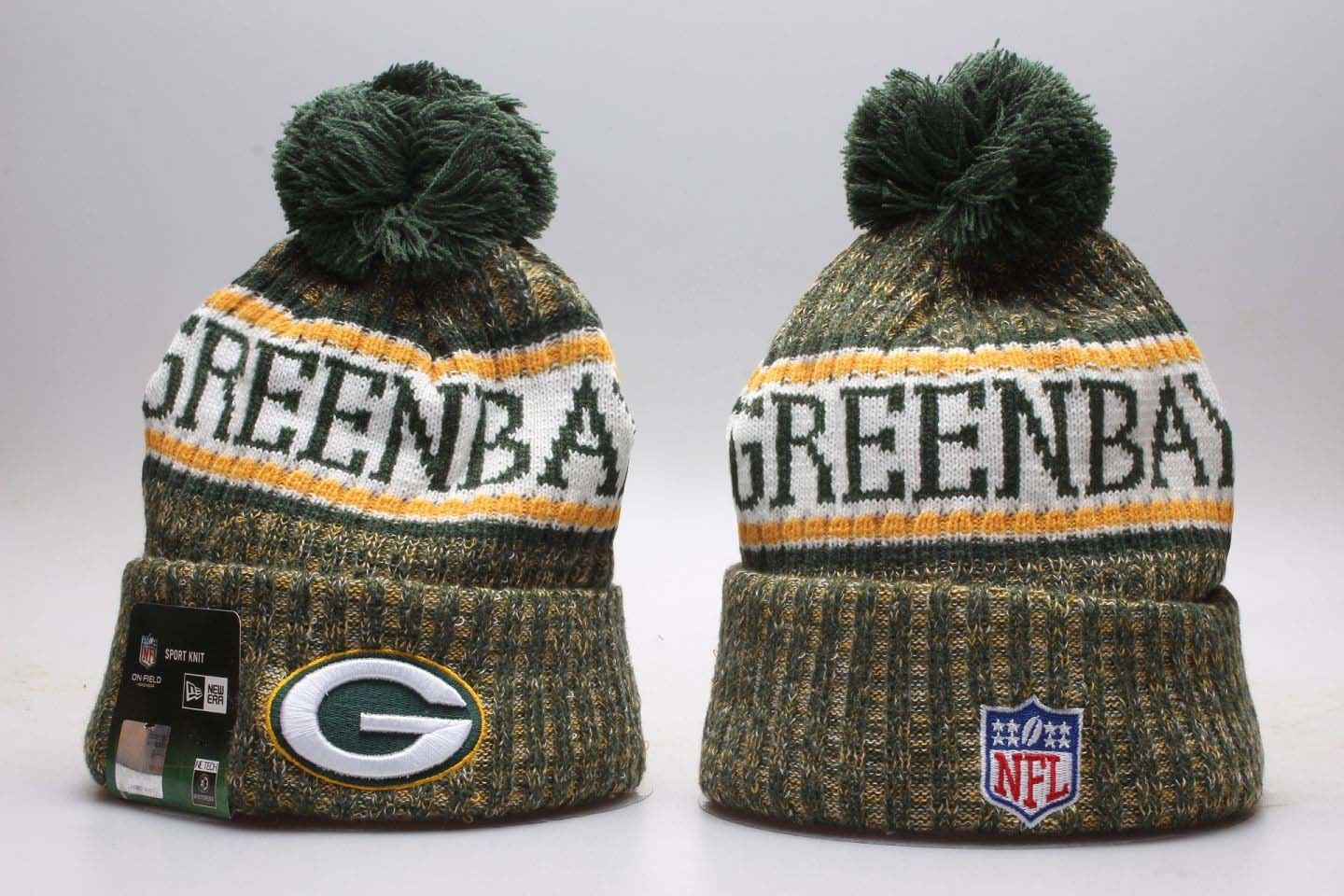 Hats 163543  New Era Green Bay Packers 2018 Sideline Winter Knit Beanie Hat  Free Shipping -  BUY IT NOW ONLY   24.99 on  eBay  green  packers  sideline  ... 6959c136ebf