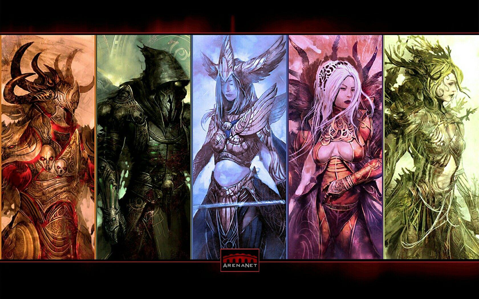 guild wars les 5 dieux balthazar grenth dwayna lyssa melandru