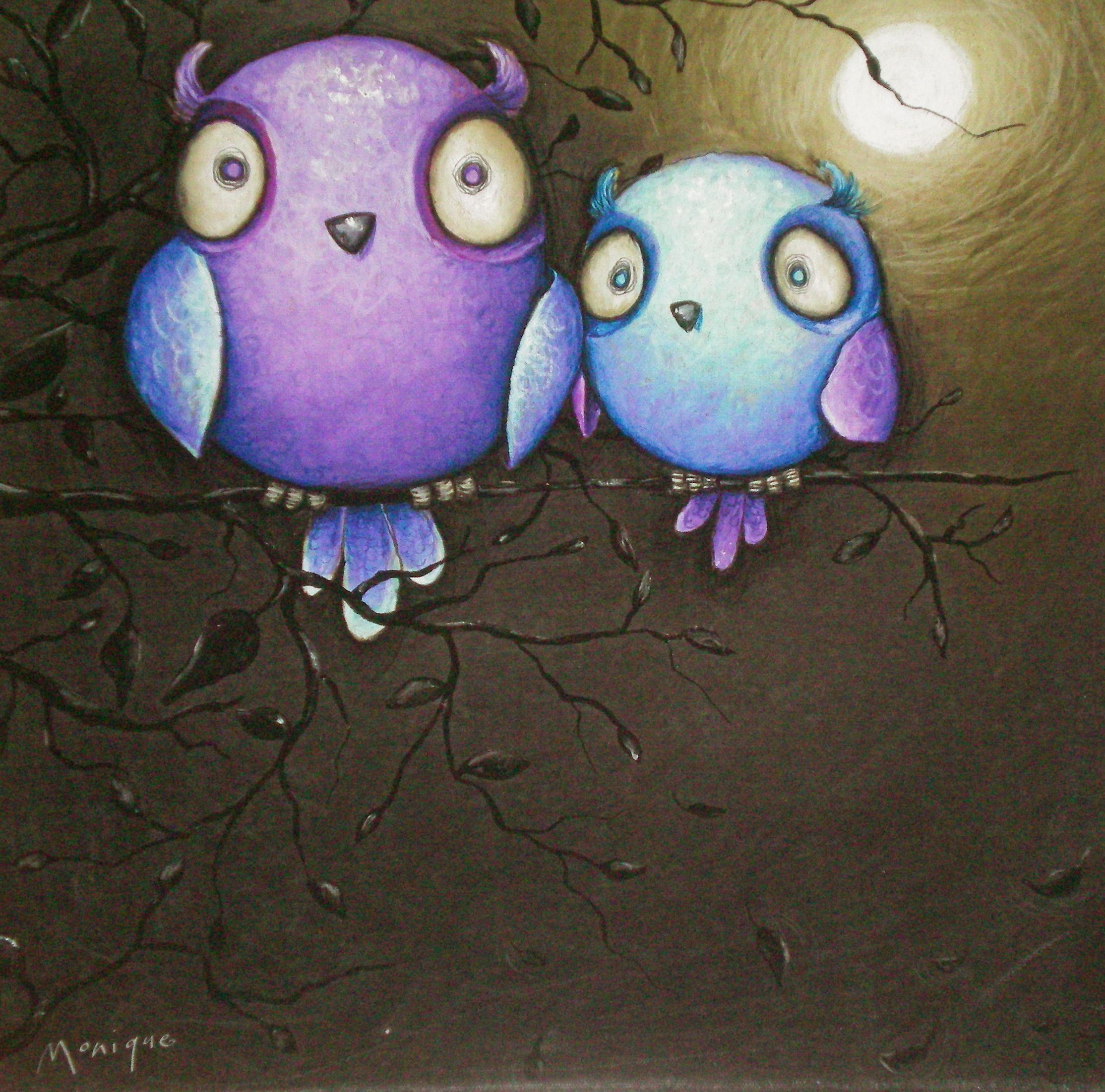 Two Owls By Monique Chalker