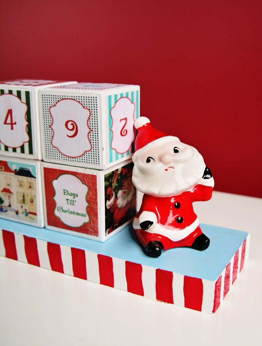 DIY Christmas Countdown Blocks Christmas countdown diy