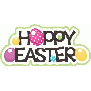 Silhouette Design Store - View Design #40024: hoppy easter title with eggs
