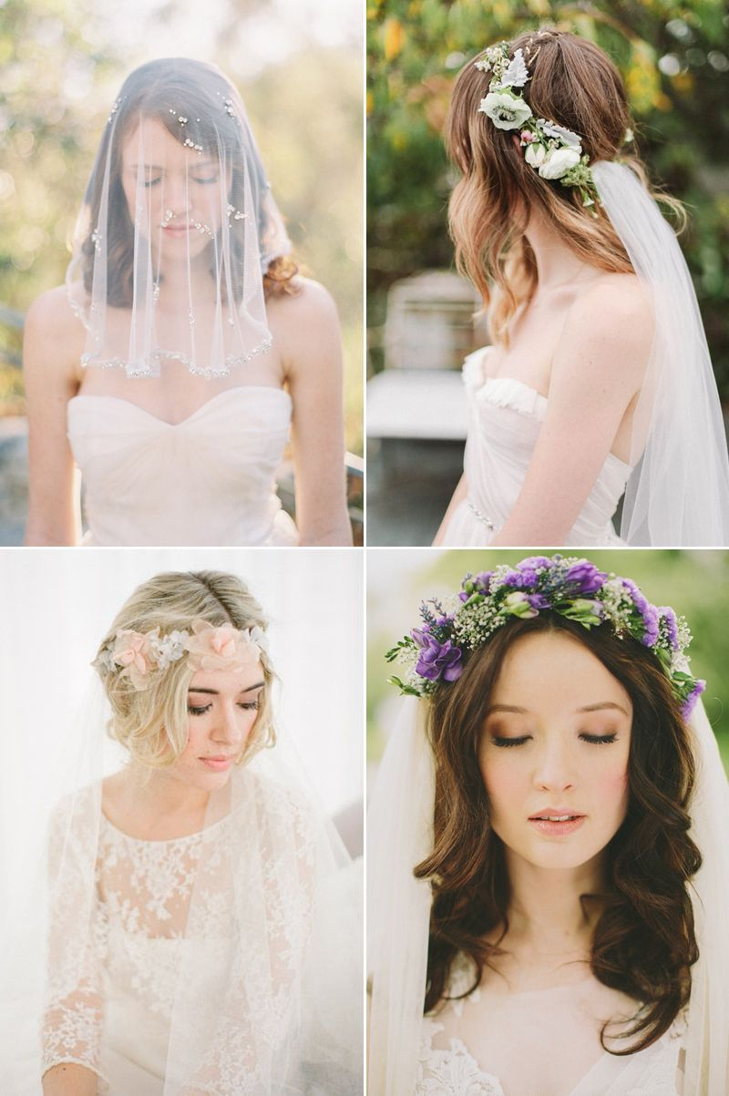 Chic Bridal Hairstyles That Look Good With Veils Short Wedding