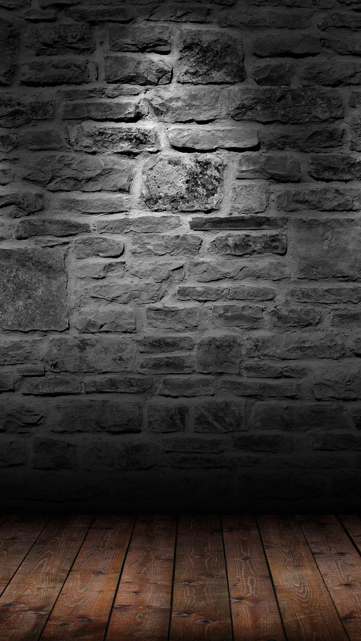 Background Bata Hitam : background, hitam, Brick, Floor, Phone, Wallpaper, Check, Https://phonewallp.com/dark-brick-wall-wood-floor-…, Iphone,, Ipad,, Ponsel