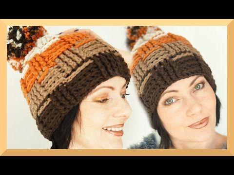 Korbmütze häkel Tutorial Bonnet knitting crochet How to | deutsch ...