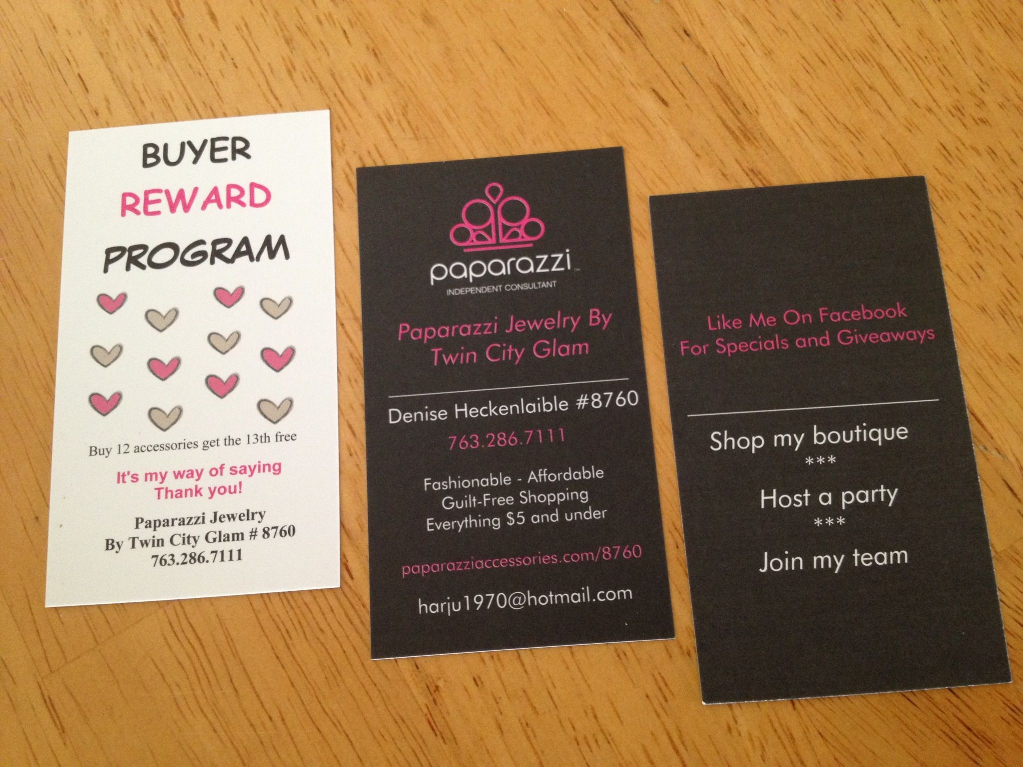 Business and loyalty cards | Paparazzi Accessories | Pinterest ...