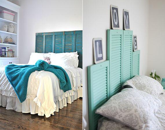 50 Schlafzimmer Ideen für Bett Kopfteil selber machen | Diy bett ...