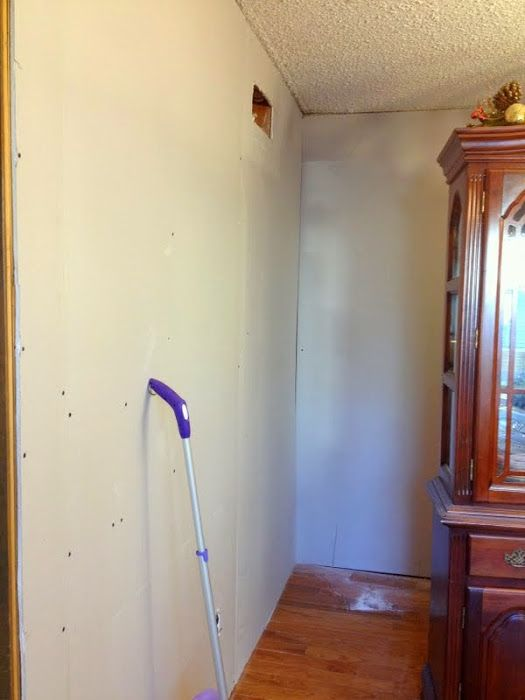 Diy Drywall Over Wood Paneling At Mom And Dads Basement With