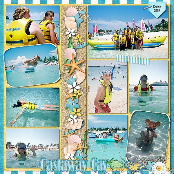 Castaway Cay - MouseScrappers - Disney Scrapbooking Gallery