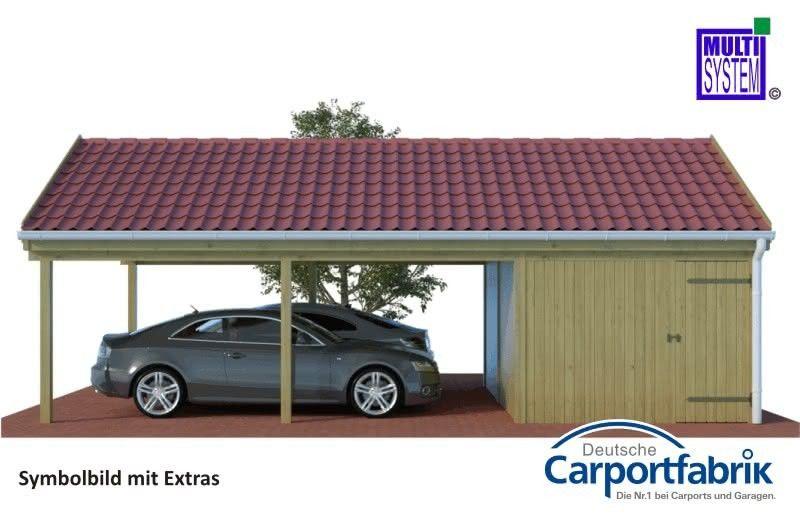 Multi Satteldach Doppelcarport Mit Starken 290kg M Dachlast Und Abstellraum Doppelcarport Mit Abstellraum Doppelcarport Carport