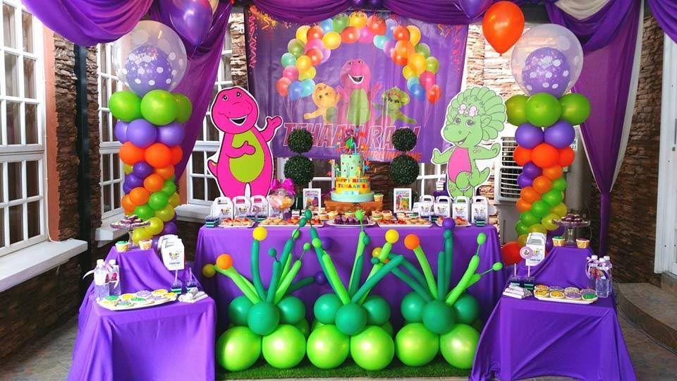 Barney Birthday Party Theme Barney Party Pinterest