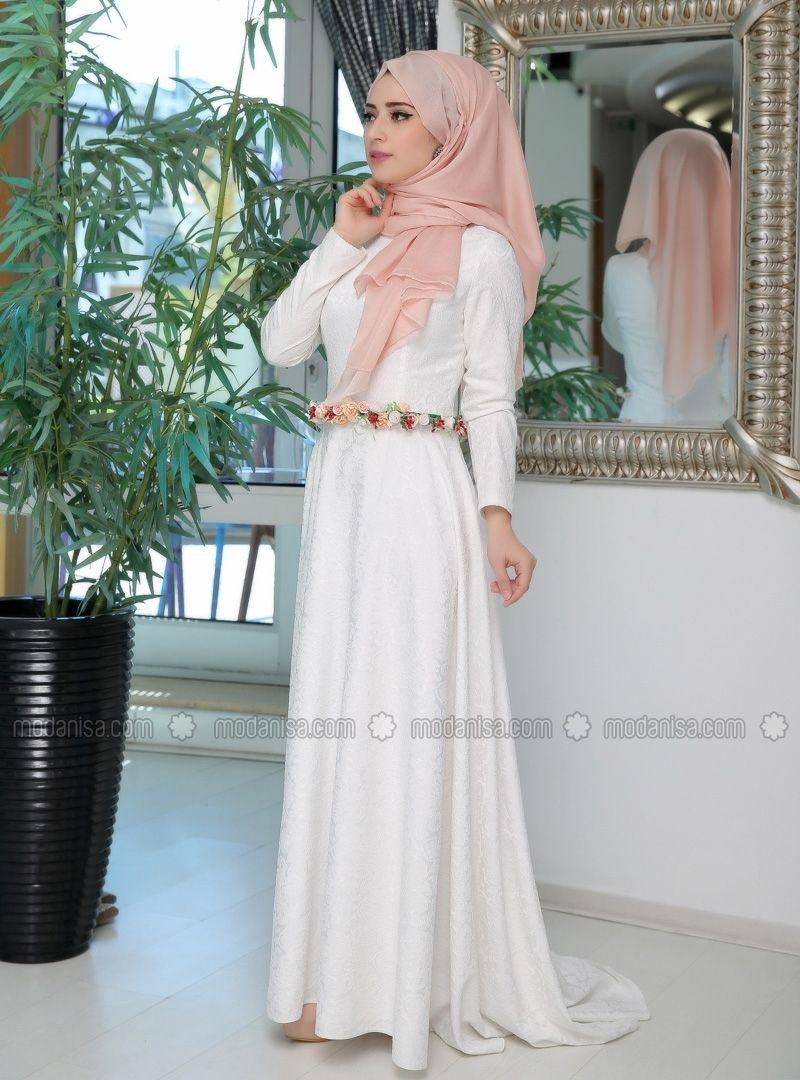 Hold Evening - White - Muslim Evening Dresses - Modanisa | Hijab ...