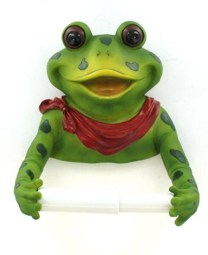 Frog Bathroom Toilet Paper Holder Red Bow EST Http://www.amazon.